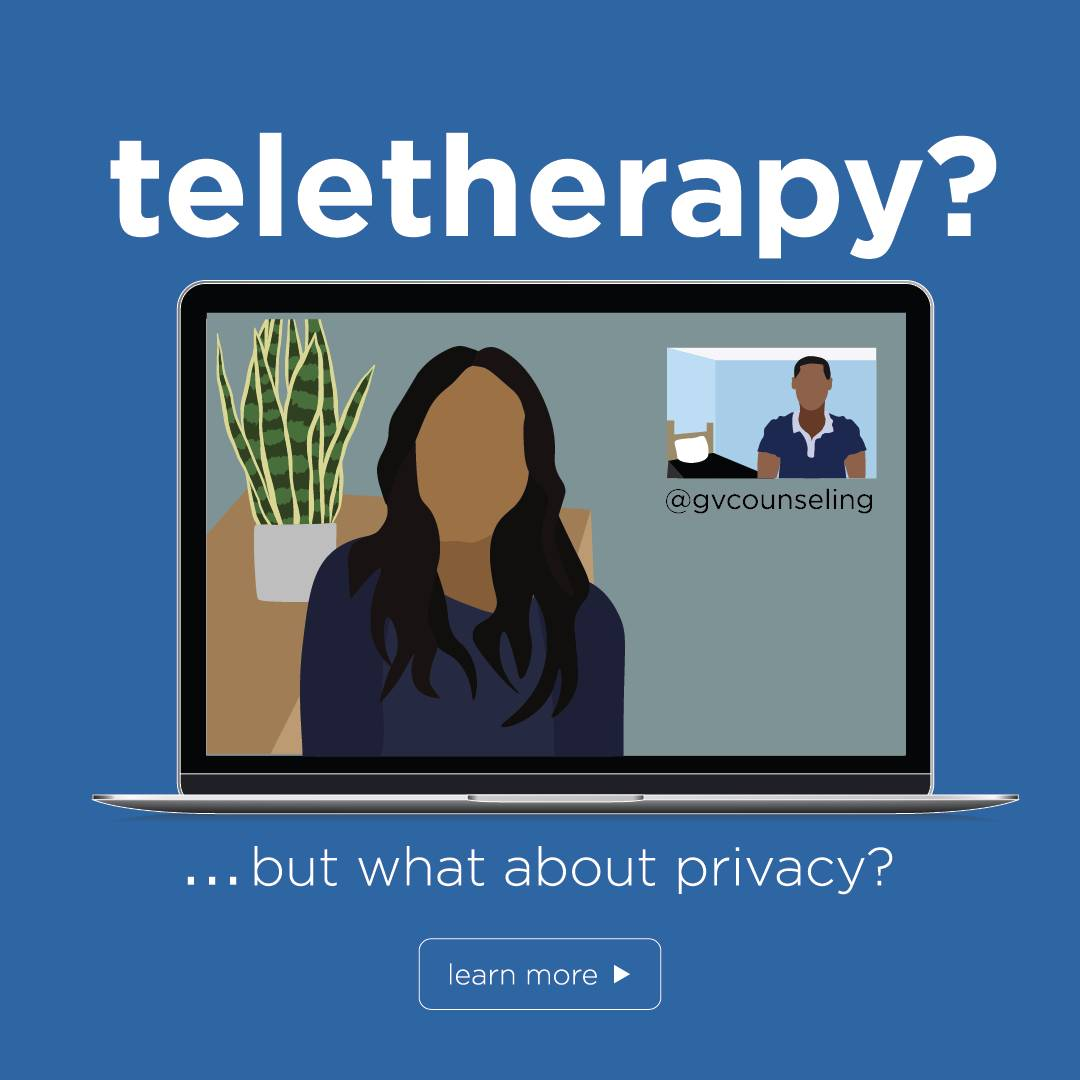 teletherapy but what about privacy button
